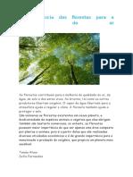A Importância Das Florestas Para a Qualidade Do Ar