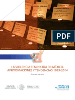 Violencia Feminicida en México Aproximaciones y Tendencias 1985_2014