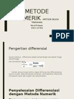 Metode Numerik (Metode Selisih Tengah)_Ma'Arif Hasan_D411 13 304