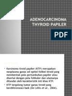 Adenocarcinoma Thyroid Papiler
