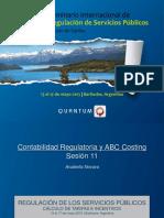 Contabilidad Regulatoria y ABC Costing