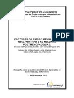 Factores de Riesgo de m2 en Mujeres Postmenopausicas