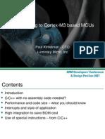 Transitioning to Cortex-M3 based MCUs