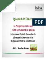 Incorporación de La Perspectiva de Género en Los Proyectos de Las OSC.