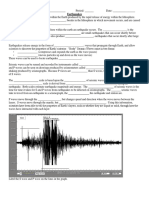 earthquakes notes sheet