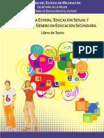 Libro de Educacion Sexual y Equidad de Genero en Michoacan