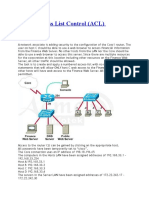 CCNA Access List Control