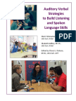 auditory verbal strategies to build listening and spoken language skills