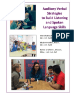 auditory verbal strategies to build listening and spoken language skills