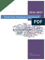 First-Year Seminar Coursepack