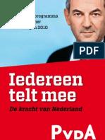 PvdA verkiezingsprogramma 2010