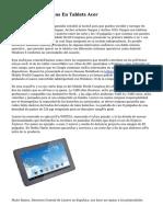 Ofertas Y Descuentos En Tablets Acer