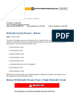 3. Hydraulic System Pressure - Release
