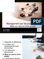 Management Par Le Processus - Mise en Oeuvre d'Un Projet