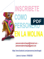 INSCRIPCION DE PERSONEROS EN LA MOLINA