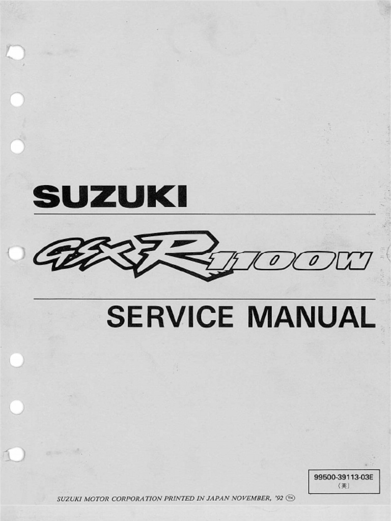 Suzuki GSX-R1100W '93-98 Service Manual