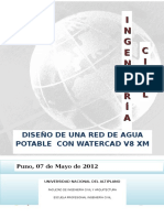 DISEÑO DE UNA RED DE AGUA POTABLE  CON WATERCAD V8 XM.docx