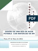 DISEÑO DE UNA RED DE AGUA POTABLE  CON WATERCAD V8 XM.docx