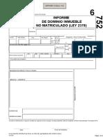 Formulario Informe de Dominio de Inmueble NO Matriculado RPIBA