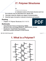 MSE 3300-Lecture Note 17-Chapter 14 Polymer Structures