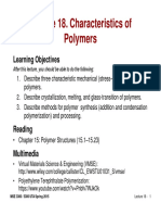 MSE 3300-Lecture Note 18-Chapter 15 Charateristics of Polymer