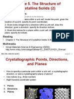 MSE 3300-Lecture Note 05-Chapter 03 the Structure of Crystalline Solids 2