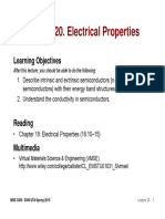 MSE 3300-Lecture Note 20-Chapter 18 Electrical Properties