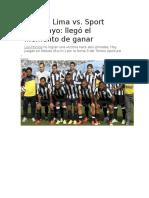 Alianza Lima Vs