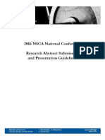 2016 NSCA Abstract Guidelines
