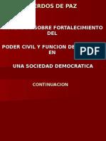 Fortalecimiento Del Poder Civil y Funcion Del Ejer.