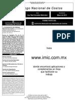 Libro IMIC Mayo 2013 con matrices y lista de precios de materiales