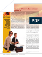 A Primer on Effective Professional Development
