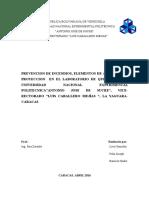 Prevencion y Control de Incendios Lab de Quimica