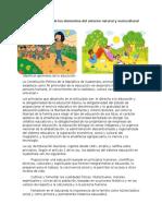 Cualidades Físicas de Los Elementos Del Entorno Natural y Sociocultural