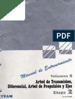 8.- Arbol de Transmision, Diferencial, Arbol de Propulsion y Ejes