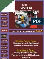 Bab III Sistem Pemerintahan