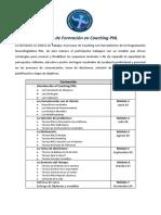 Pensum Curso Coaching PNL