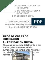 Udch-tipos de Edificacion