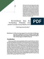 Revitalisasi dan Koreksi Terhadap Filsafat Paripatetik Analisis Terhadap Konsep Shihâb al-Dîn al-Suhrawardî