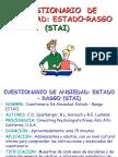(STAI) CUESTIONARIO  DE ANSIEDAD ESTADO RASGO.ppt