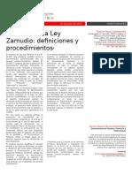 Reforma de La Ley Zamudio - Definiciones y Procedimientos
