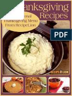 22 Easy Thanksgiving Recipes A Traditional Thanksgiving Menu From RecipeLion.pdf