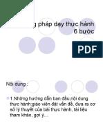 Phương pháp dạy thực hành 6 bước