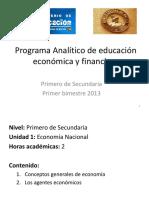 Programa Analítico de Educación Economica y Financiera