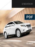 2011 Lexus RX Catalogue Manual