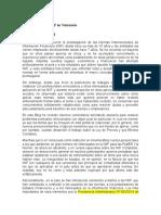 Aplicación de Las NIIF en Venezuela