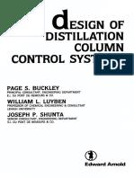 Design of Distillation Column Control Systems