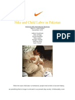Nike and Child Labor in Pakistan
