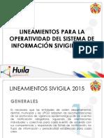 Lineamientos SIVIGILA 2015