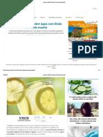 Água Com Limão10 Benefícios de Bebe-la Pela Manhã